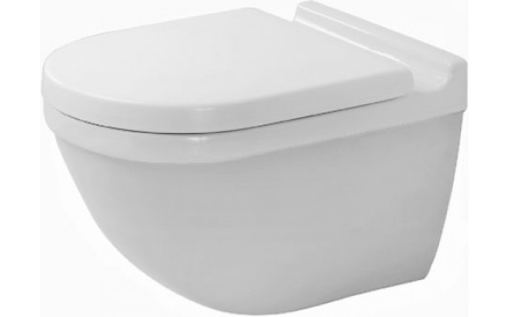 WC závěsné Duravit odpad vodorovný Starck 3 s hlub. splach., vč. upevnění 36x54 cm bílá wondergliss