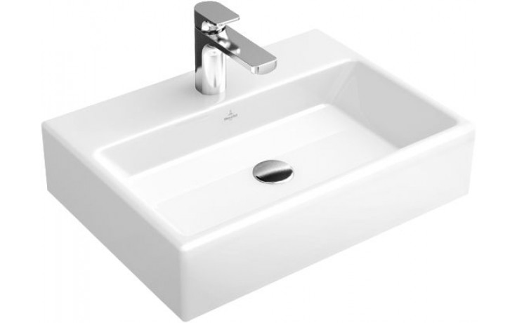 VILLEROY & BOCH MEMENTO umyvadlo 600x420mm s přepadem Bílá Alpin CeramicPlus 51336LR1