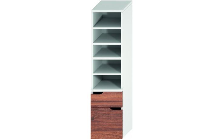 Nábytek skříňka Jika Mio new 2 zásuvky 363x1485x340 mm bílá-ořech