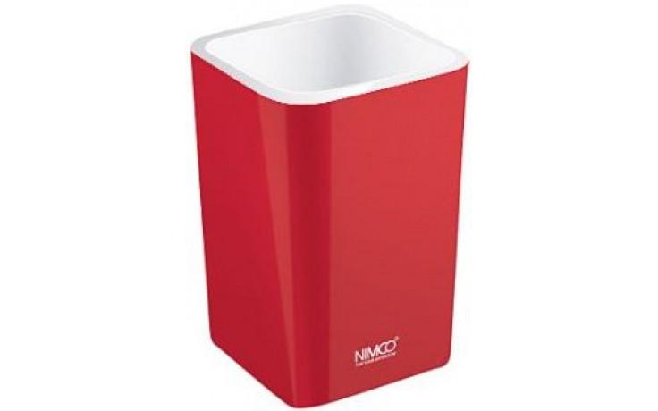 Doplněk ostatní Nimco Eli pohárek na kartáčky  červená