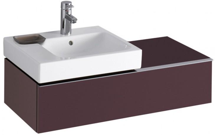KERAMAG ICON skříňka pod umyvadlo 89x24x47,7cm závěsná burgundy lesklá 840491000