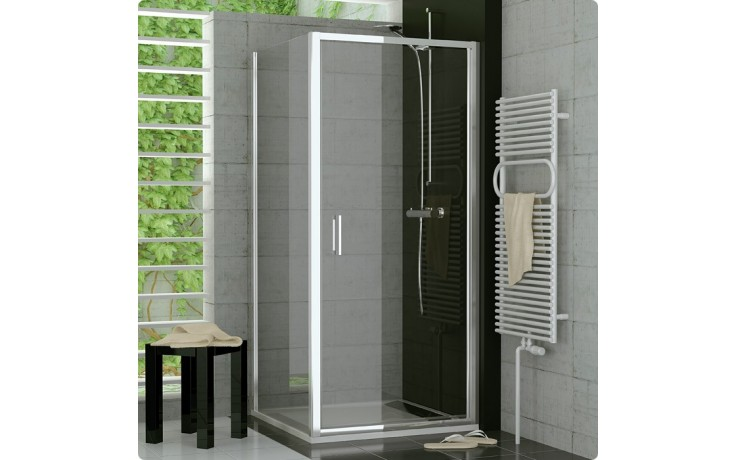 SANSWISS TOP LINE TOPF boční stěna 800x1900mm, aluchrom/čiré sklo Aquaperle