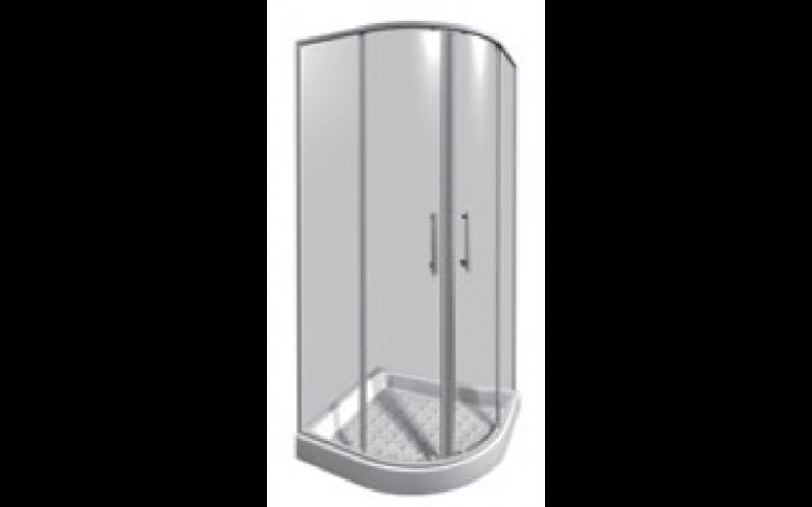 JIKA LYRA PLUS sprchový kout 800x800x1900mm čtvrtkruh, stripy