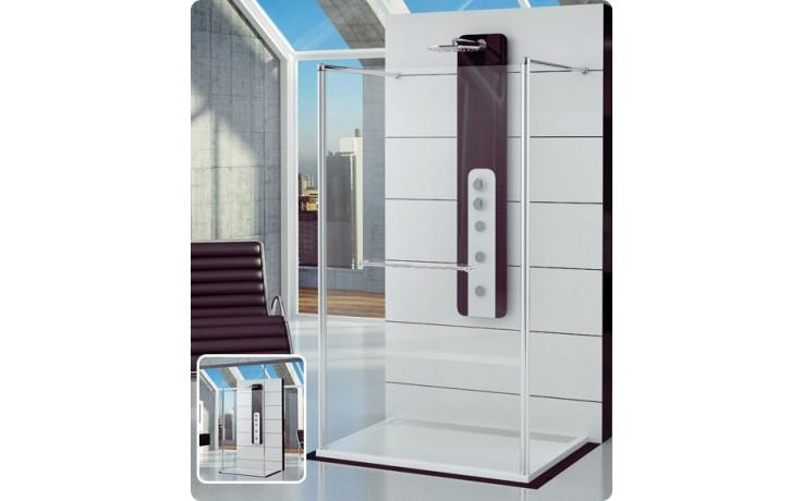 Zástěna sprchová boční Ronal FUN FUS2 1200 50 07 1200x2000mm aluchrom/čiré AQ