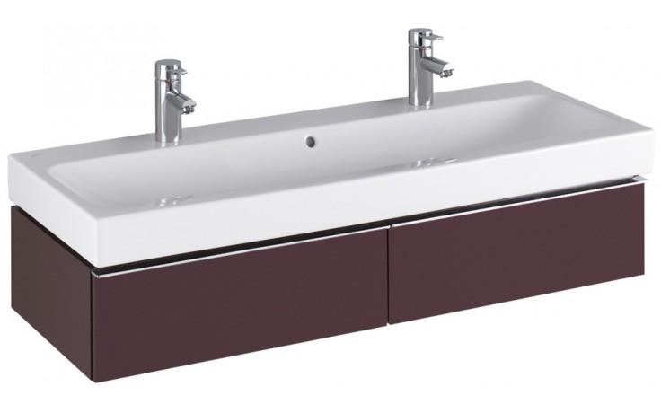 KERAMAG ICON skříňka pod umyvadlo 119x24x47,7cm závěsná burgundy lesklá 840121000