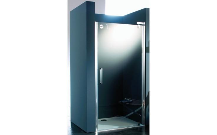 Zástěna sprchová dveře Huppe sklo Refresh pure Akce 900x1943 mm stříbrná matná/čiré AP