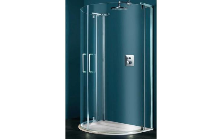 Zástěna sprchová půlkruh Huppe sklo Refresh pure 1140x900x1943mm titanová stříbrná/čiré