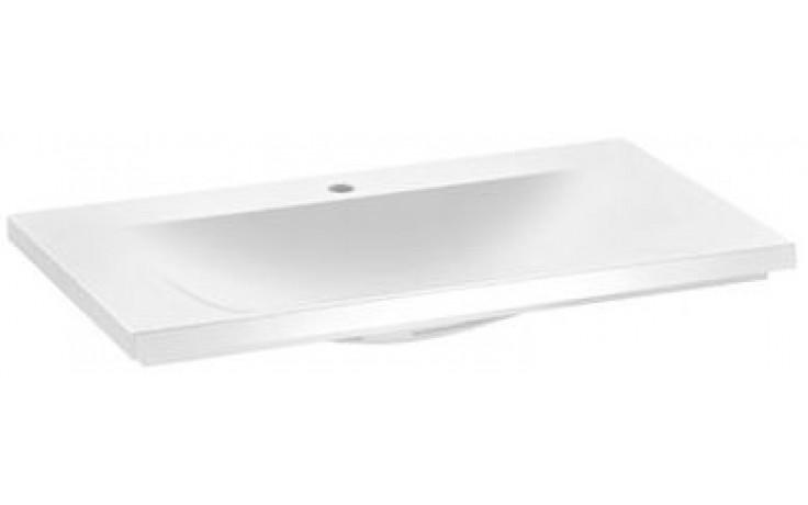 KEUCO ROYAL REFLEX nábytkové umyvadlo 800x490mm s otvorem pro baterii, s odpadovým systémem Clou, bílá