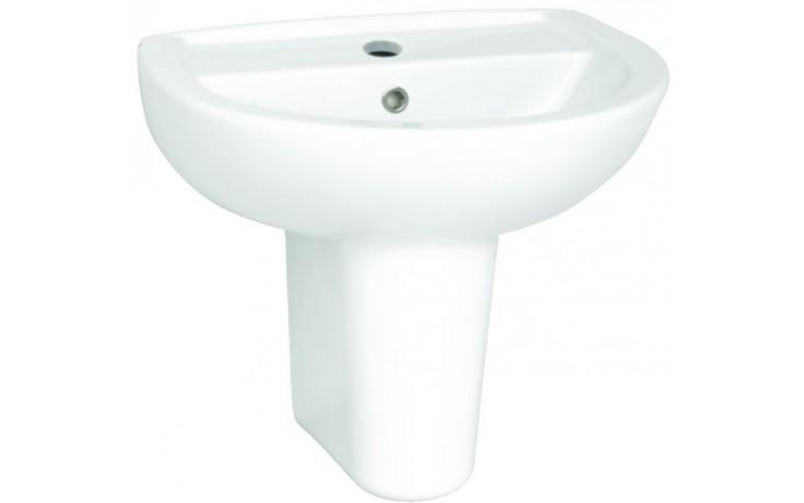 Umyvadlo klasické - s otvorem Concept 100 kulaté 55 cm bílá alpin