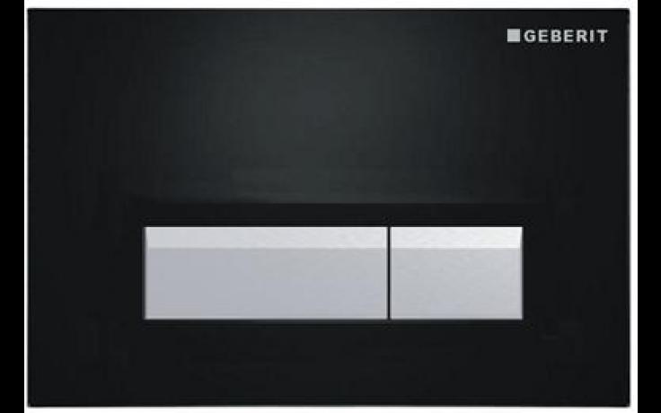 GEBERIT SIGMA 40 ovládací tlačítko s integrovaným odsáváním zápachu 26,6x18,2cm, černá/kartáčovaný hliník 115.600.KR.1