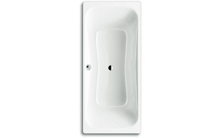Vana smaltovaná - klasická Concept 100 DUO - se středovým odpadem 170x75 cm bílá