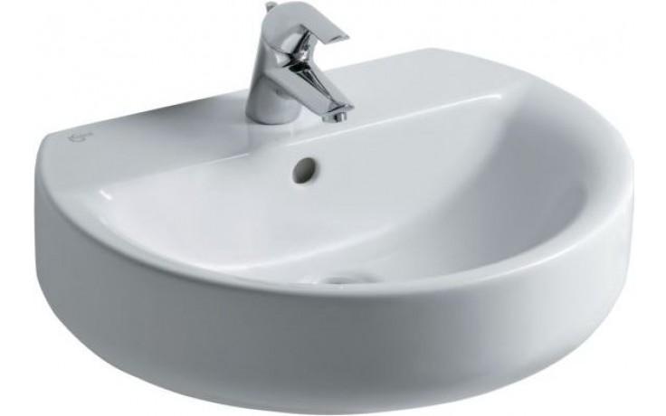Umyvadlo klasické Ideal Standard s otvorem Connect Sphere 55x45,5x17,5 cm bílá+Ideal Plus