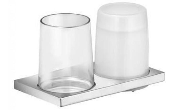 KEUCO EDITION 11 držák skleničky a dávkovače tekutého mýdla 180ml , křišťálové sklo/chrom