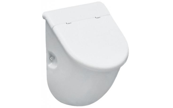 LAUFEN CASA odsávací urinál 305x285mm s otvory pro poklop, s muškou, bílá LCC 8.4014.1.400.400.1