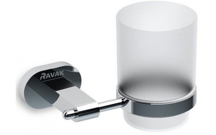 Doplněk držák se skleničkou Ravak Chrome CR 210.00  chrom/transparent