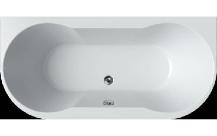 Vana plastová Teiko tvarovaná Axia vč. noh 170x80x46cm bílá