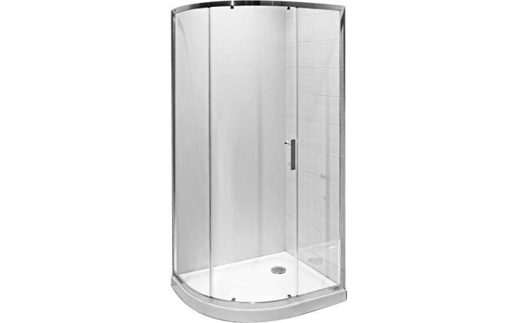 Zástěna sprchová čtvrtkruh Jika sklo Tigo 5121.1 002 666 980x780x1950 mm sklo arctic