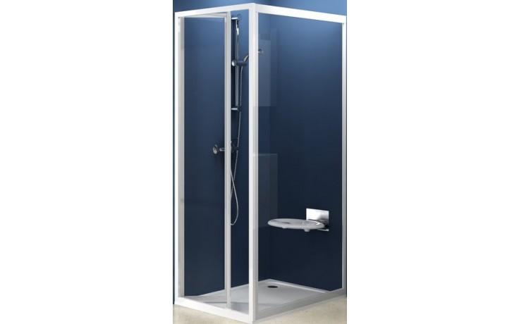 Zástěna sprchová dveře Ravak sklo PSS-pevná stěna 75 bílá/grape