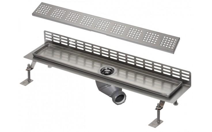 SANELA SLKN07F koupelnový žlábek 950mm ke stěně, nerez lesk
