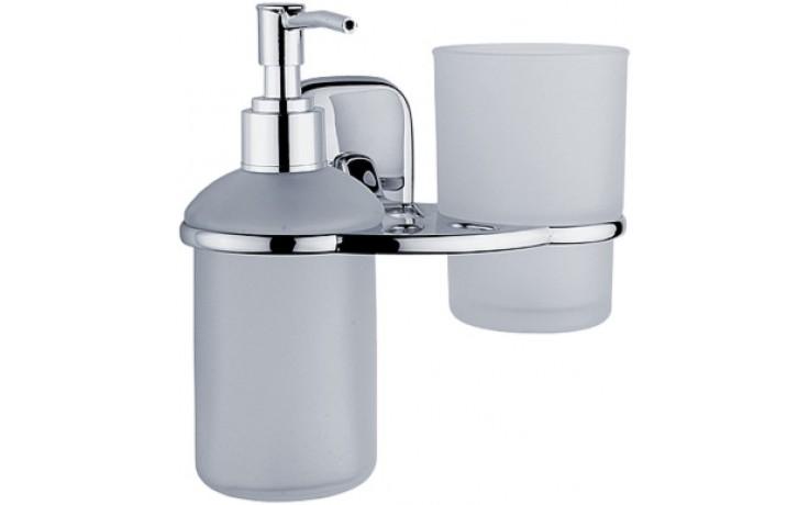 NIMCO SIMONA dávkovač na tekuté mýdlo se sklenkou 155x160x115mm chrom SI 725831C-P-26