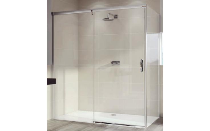 HÜPPE AURA ELEGANCE SW 900 boční stěna 900x1900mm pro posuvné dveře 1-dílné s pevným segmentem, 4-úhelník, stříbrná matná/sklo Privatima Anti-Plague