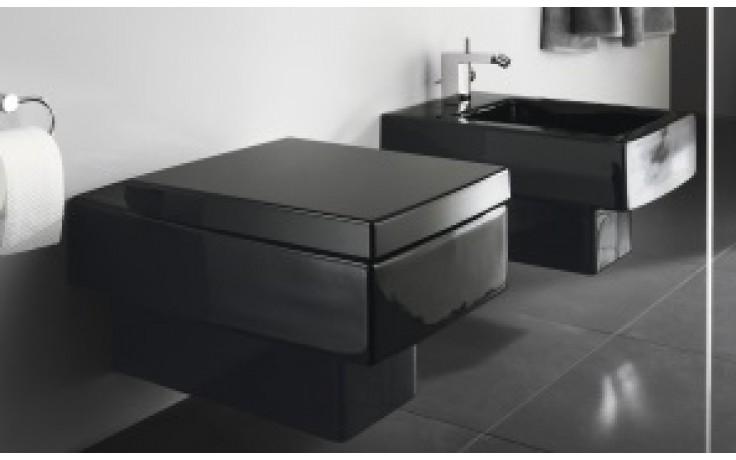 WC závěsné Duravit odpad vodorovný Vero 37x54,5 cm černá