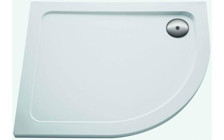 Vanička plastová Kohler čtvrtkruh Flight levá 120x90x4 cm white