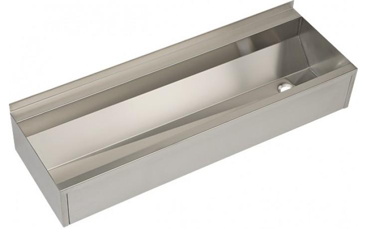 SANELA SLUN10P mycí žlab 1250mm, hranatý, oplástěný, nerez mat