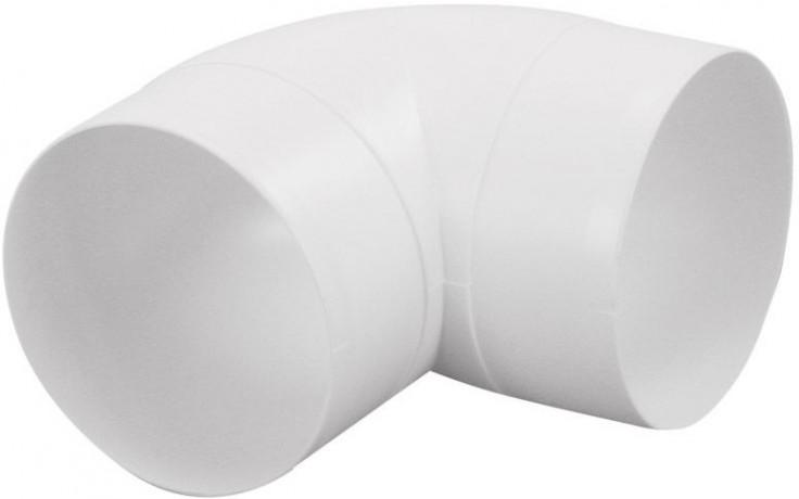 HACO CKO 90/100 ventilační systém prům.100mm, koleno kulaté, bílá