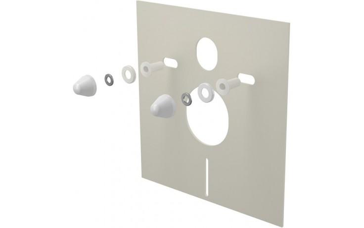 CONCEPT izolační deska pro závěsné WC a bidet, s příslušenstvím a krytkou, 400x420mm, bílá