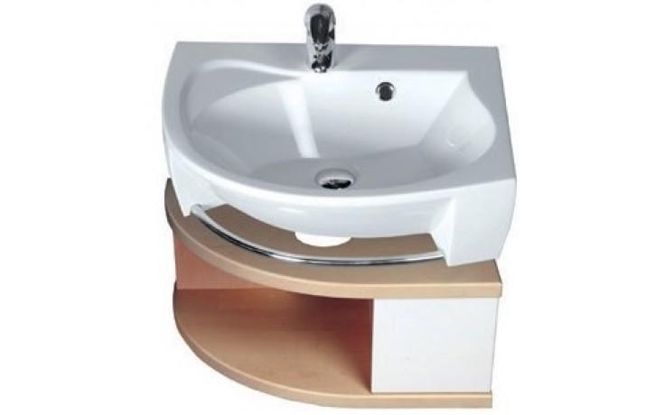 RAVAK ROSA SDU L skříňka pod umyvadlo 560x400x240mm se šuplíkem, levá, bílá/bílá X000000326