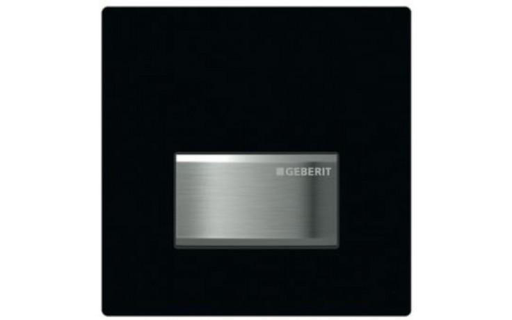GEBERIT SIGMA 50 ovládání splachování pisoárů 13x13cm, pneumatické, ruční, sytá černá RAL 9005