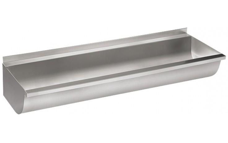 SANELA SLUN10K mycí žlab 1250mm, zakulacený, neoplástěný, nerez mat