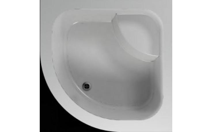 Vanička plastová Teiko čtvrtkruh - 90x90x35cm bílá