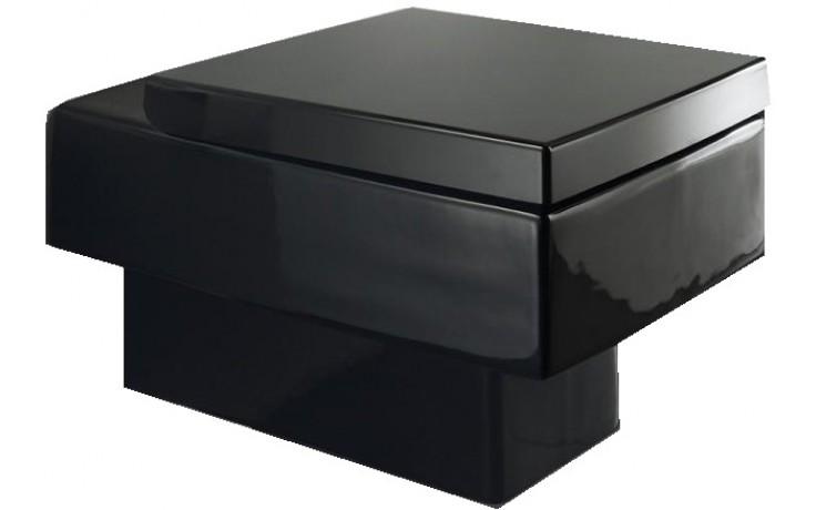 DURAVIT VERO závěsný klozet 370x540mm hluboké splachování, vodorovný odpad, černá