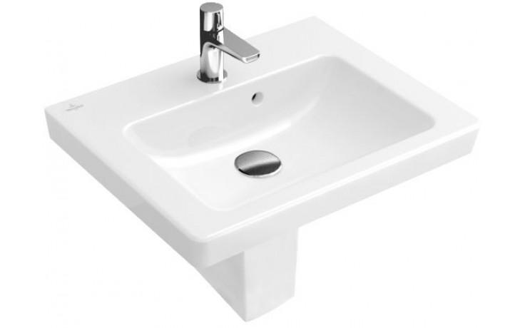 VILLEROY & BOCH SUBWAY 2.0 umývátko 450x370mm s přepadem, Bílá Alpin 73154501