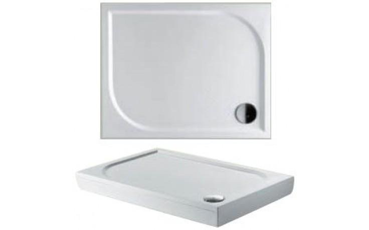 RIHO KOLPING DB32 sprchová vanička 100x90cm obdélník, včetně sifonu a podpěr, litý mramor, bílá