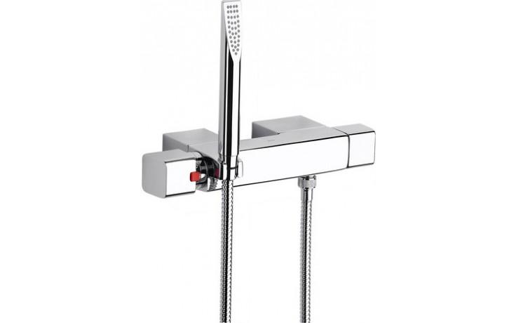 ROCA THESIS sprchová termostatická baterie se sprchou, hadicí a držákem, chrom
