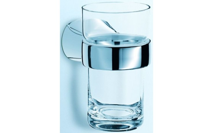 CONCEPT 200 držák se skleničkou 65x102x115mm čiré sklo, chrom