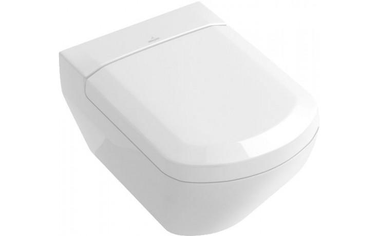 WC závěsné Villeroy & Boch odpad vodorovný Sentique hluboké splachování 375x590mm Bílá Alpin Ceramicplus