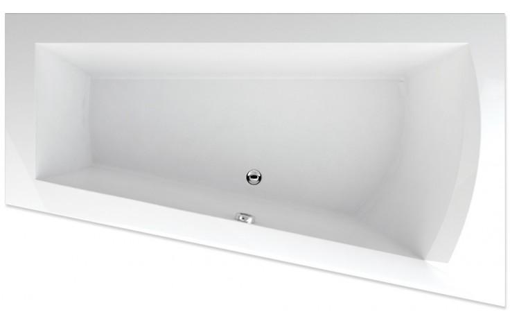 TEIKO NERA 170 P vana 170x100x50cm, rohová, akrylát, bílá
