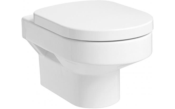 WC závěsné Kolo odpad vodorovný Quattro  bílá+Reflex