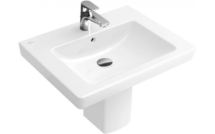 VILLEROY & BOCH SUBWAY 2.0 umyvadlo 600x470mm, s přepadem, bílá Alpin CeramicPlus