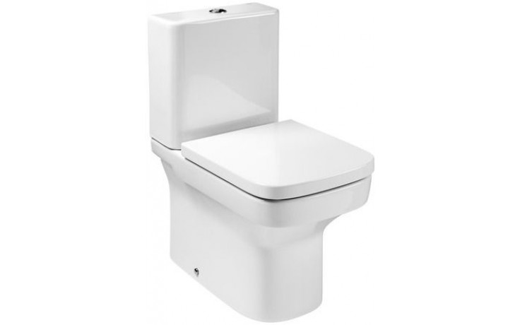ROCA DAMA WC mísa kapotovaná kombi Compact 600x400mm hluboké splachování, vario odpad, bílá