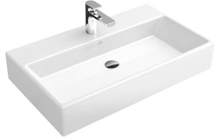 Umyvadlo nábytkové Villeroy & Boch s otvorem Memento 800x470mm Bílá Alpin