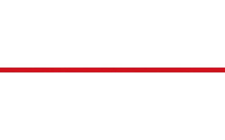 RAKO TENDENCE listela 1,3x60cm červená
