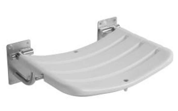 JIKA UNIVERSUM sprchová sedačka 490x340mm, závěsná, sklopná, nerez