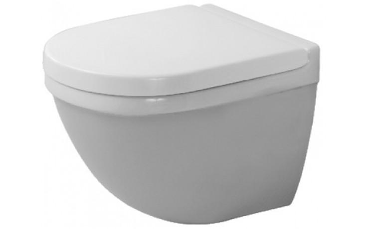 WC závěsné Duravit odpad vodorovný Starck 3 pro s hlub.splach.,vč.upevnění 36x48,5 cm bílá