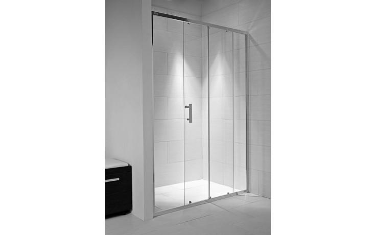 Zástěna sprchová dveře Jika sklo Cubito 120x195 cm transparentní