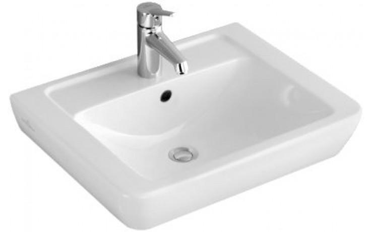 Umyvadlo klasické Villeroy & Boch s otvorem Verity Design 650x510mm Bílá Alpin
